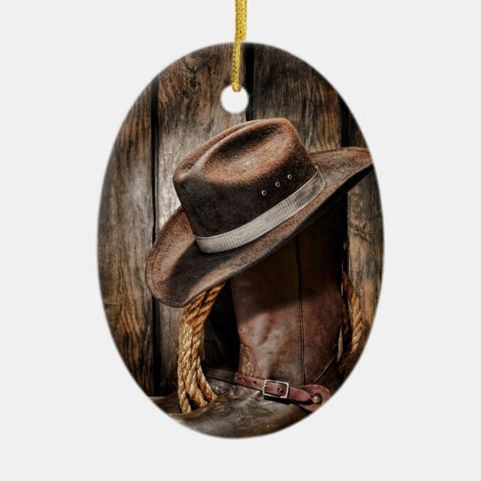 447d024dc04 western country brown barn wood cowboy boots ceramic ornament ...