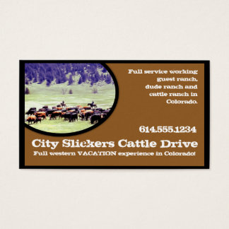 Western Country Business Card :: Cattle Drive
