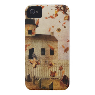Western Country Church Chapel Fall Autumn leaves iPhone 4 Cover