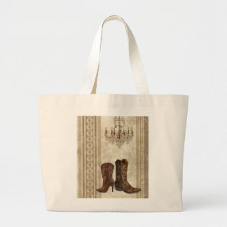 Western country cowboy boots fashion tote bags