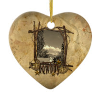 western country cowboy wedding photo ornament