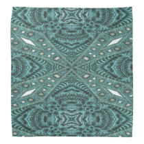 Western Country fashion Teal Turquoise Leather Bandana
