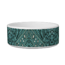 Western Country fashion Teal Turquoise Leather Bowl