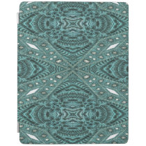 Western Country fashion Teal Turquoise Leather iPad Smart Cover