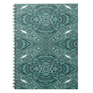 Western Country fashion Teal Turquoise Leather Notebook