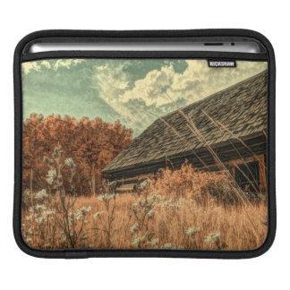 western country field wildflower farm Old Barn Sleeve For iPads