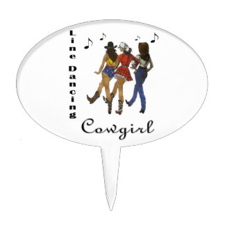 "Western Country ""Line Dancing Cowgirl"" Cake Topper"