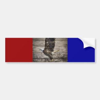 Western Country Patriotic USA American Bald Eagle Bumper Sticker