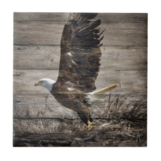 Western Country Patriotic USA American Bald Eagle Ceramic Tile