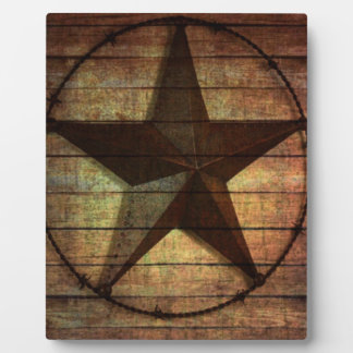 Western Country Primitive Barn Wood Texas Star Plaque