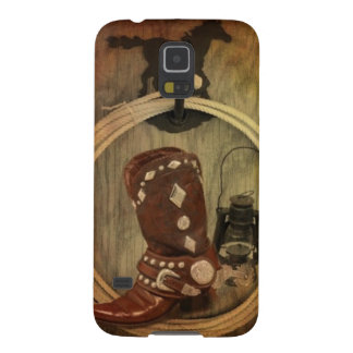 Western Country Rodeo cowboy boot Lasso Rope Case For Galaxy S5