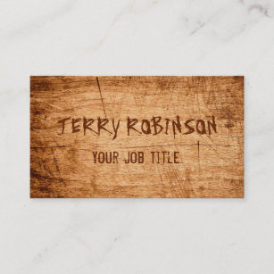 Wood grain business cards templates zazzle western country rustic scratched wood grain business card reheart Choice Image