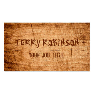 Western Country Rustic Scratched Wood Grain Double-Sided Standard Business Cards (Pack Of 100)