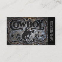 western country Stampede Horse cowboy rodeo Business Card