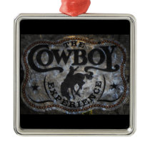 western country Stampede Horse cowboy rodeo Metal Ornament