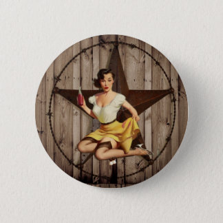 Western Country Texas Star Pin Up Girl Cowgirl