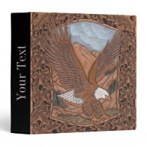 Western country tooled leather Vintage Eagle Binder