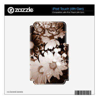 western country wildflower summer daisy iPod touch 4G decal