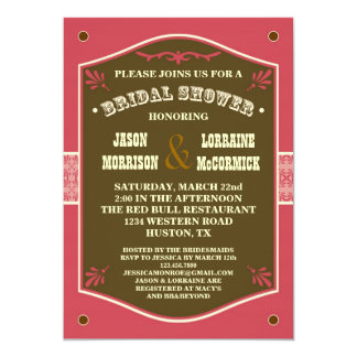 Western Couple's Bridal Shower Invitation
