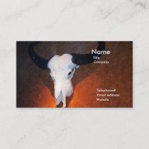 Western Cow Skull Bull SouthWest art business card