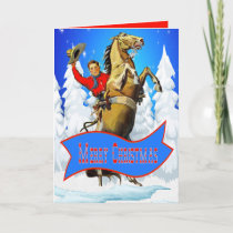 Western Cowboy And Horse Merry Christmas Card