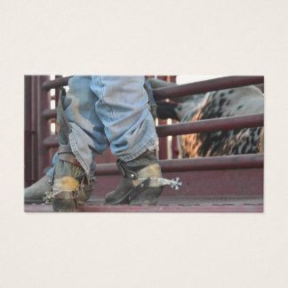 Western Cowboy And Rodeo Bull Business Cards