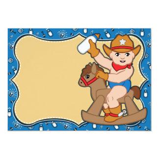 "Western Cowboy Baby Shower Invitations 5"" X 7"" Invitation Card"