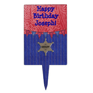 Western Cowboy Birthday Party Cake Topper