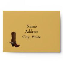Western Cowboy Boot Envelope
