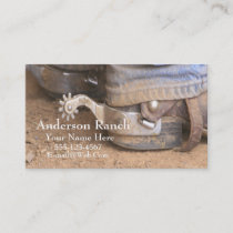 Western Cowboy Boot Spurs Business Card Template