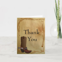Western Cowboy Boot Thank You