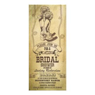 western cowboy boots bridal shower invitations