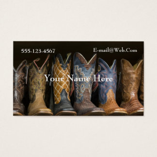 Western  Cowboy Boots Business Card Template