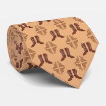 Western Cowboy Boots Necktie