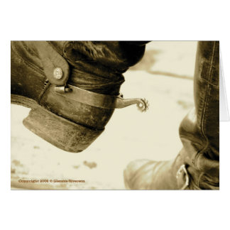 Western Cowboy Boots Note Cards