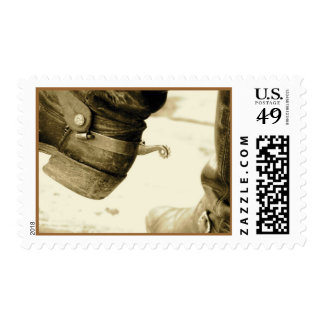 Western Cowboy Boots Postage Stamps