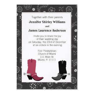 Western Cowboy Boots Wedding Invitation