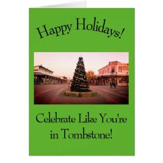 Western Cowboy Christmas Card