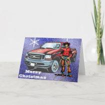 Western Cowboy Christmas Greeting Card