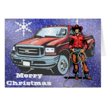 Western Cowboy Christmas Greeting Card