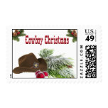 Western Cowboy Christmas Postage Stamps