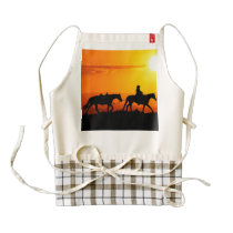 Western cowboy-Cowboy-texas-western-country Zazzle HEART Apron