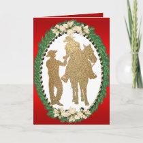 Western Cowboy Cowgirl Horse Greeting Card