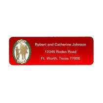 Western Cowboy Cowgirl Horse Label