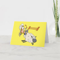 Western Cowboy Cowgirl Rodeo Mutton Bustin Card