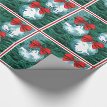 Western Cowboy Cowgirl Roping Christmas Gift Wrap