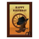 Western Cowboy Custom Birthday Card