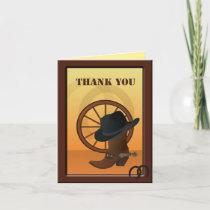 Western Cowboy Custom Thank You Note Card