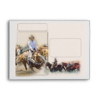 Western Cowboy Envelope