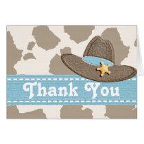 Western Cowboy Hat Thank You Card
